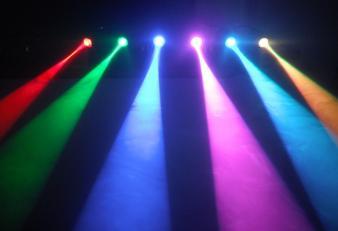 RGB Pin Spot, 2 x 4 op statief
