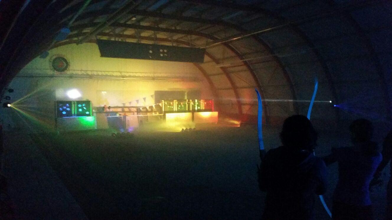 Handboog schietbaan met haze (rook) en Led-verlichting