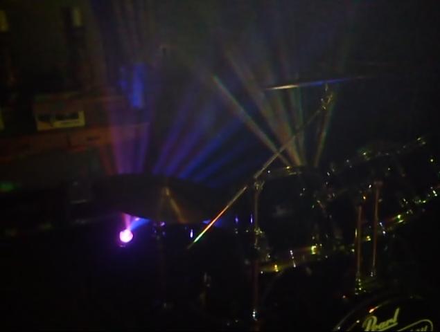 LED FX achter het drumstel